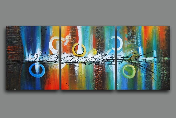Original Large Framed Oil Painting Canvas Modern Abstract Textured